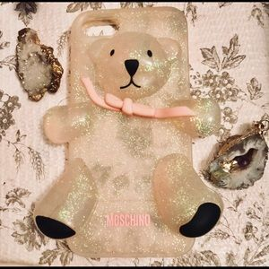 MOSCHINO Rare Glitter Teddy Bear IPhone 4 Case
